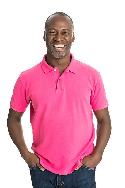 Mature African Man Smiling stock photo