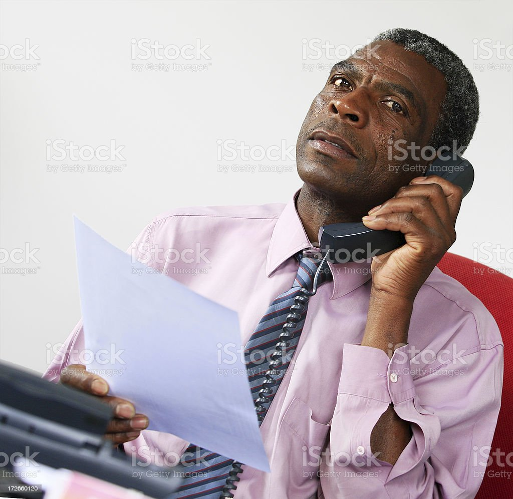 Mature African manager in the office royalty-free stock photo