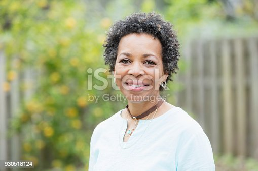 istock Mature African-American woman outdoors 930518124