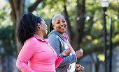 istock Mature African-American women in city, exercising 1036366486