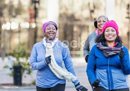 1036366486istockphoto Mature African-American women in city, exercising 1089414754
