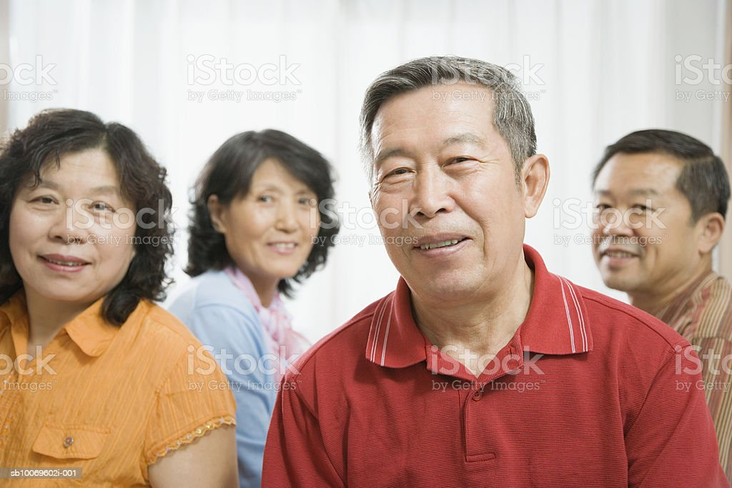 Mature and senior couple, smiling royalty-free stock photo
