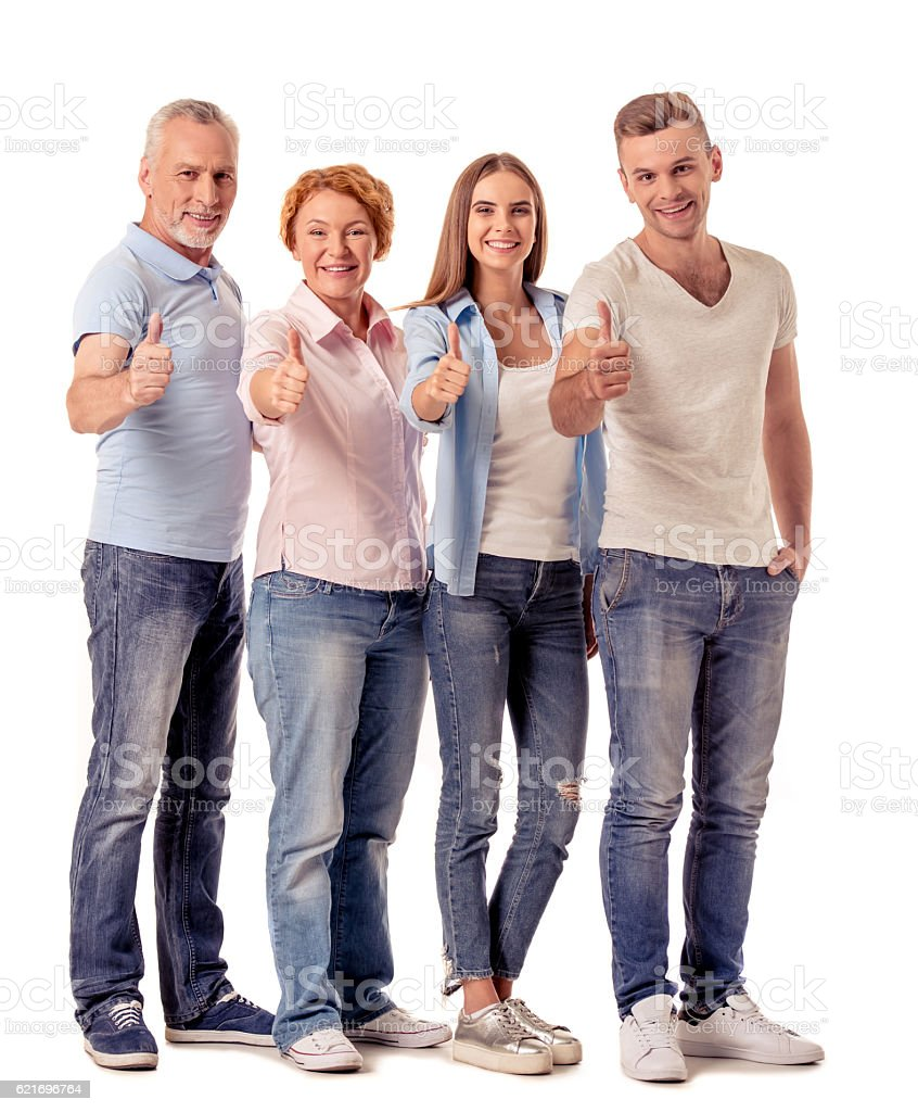 Mature and young couples - foto de stock