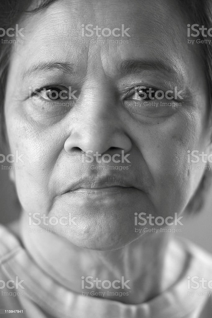 Mature Asian Woman royalty-free stock photo