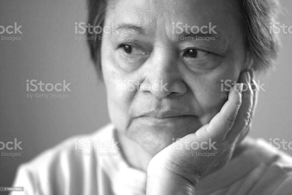 Mature Asian Woman royalty-free stock photo