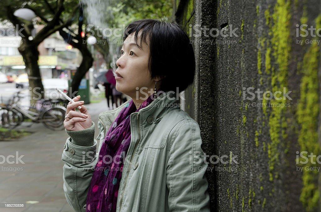 Mature attractive woman stock photo