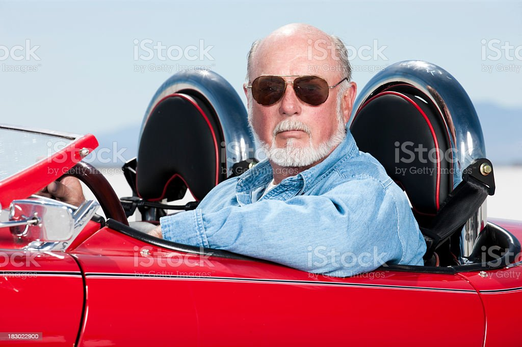 Mature Auto Enthusiast Portrait royalty-free stock photo