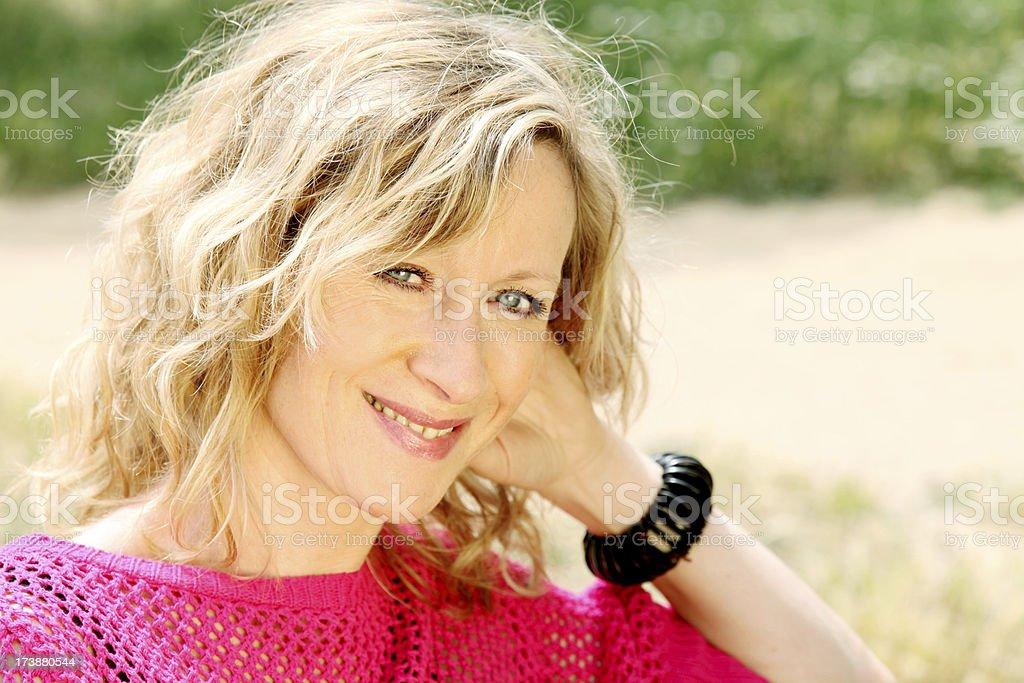 Beautiful blonde mature
