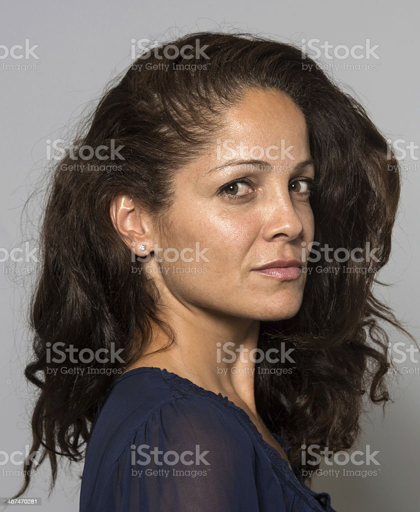 Mature beautiful hispanic woman stock photo