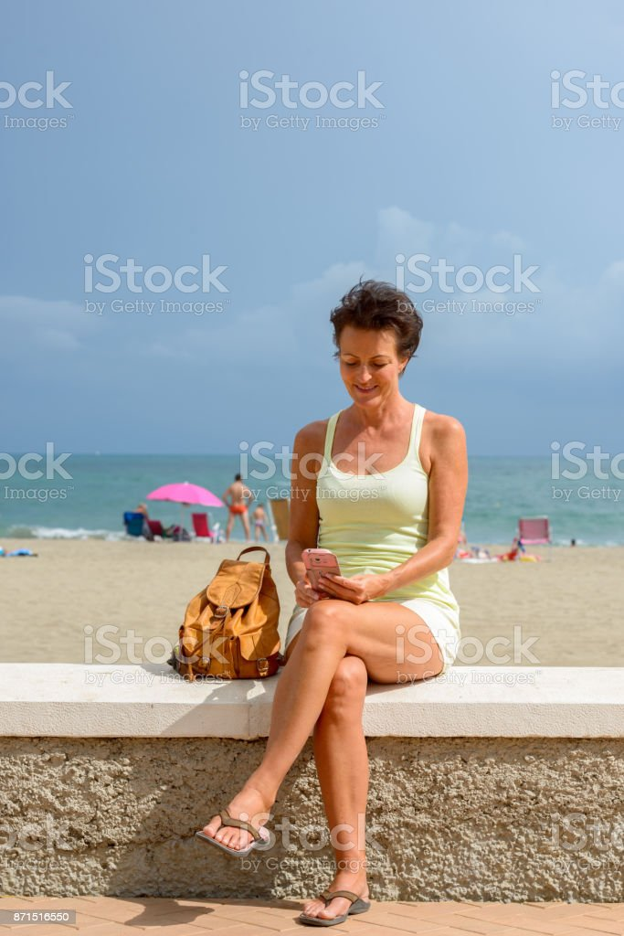 Mature at the beach