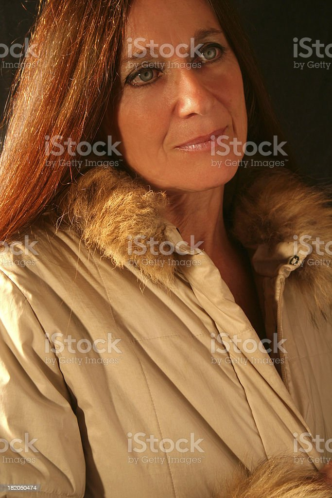 Mature Beautiful Woman Portrait royalty-free stock photo