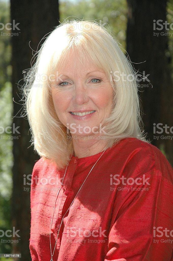 Mature Beauty stock photo