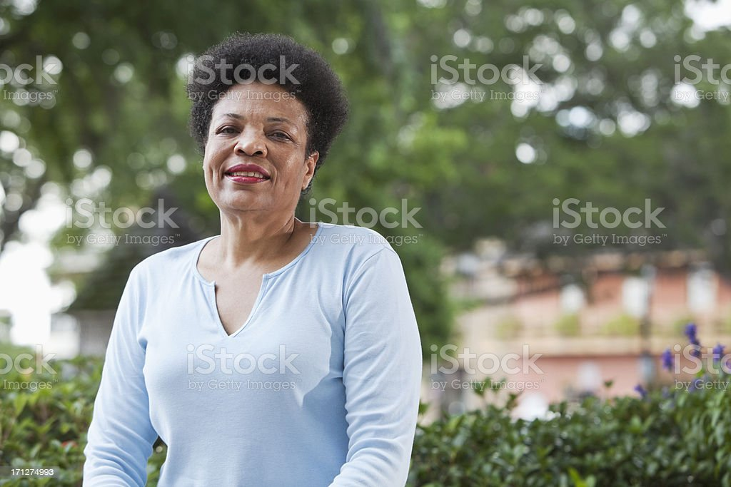 Mature black woman stock photo