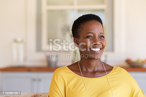 istock Mature black woman smiling with hope 1152601921