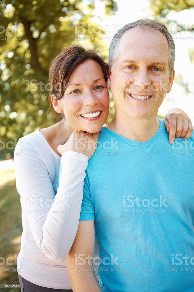 Mature bonding royalty-free stock photo