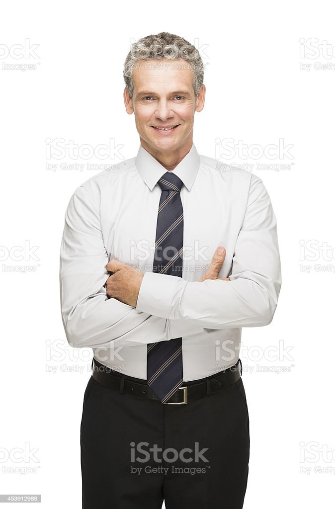 Mature business executive facing forward stock photo