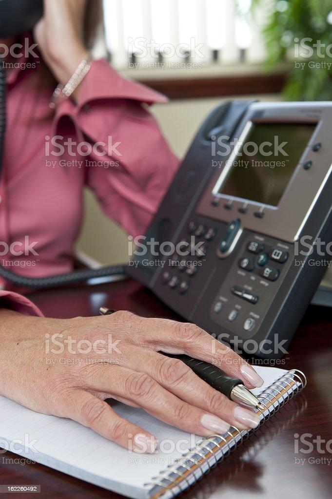 Mature business woman hand stock photo