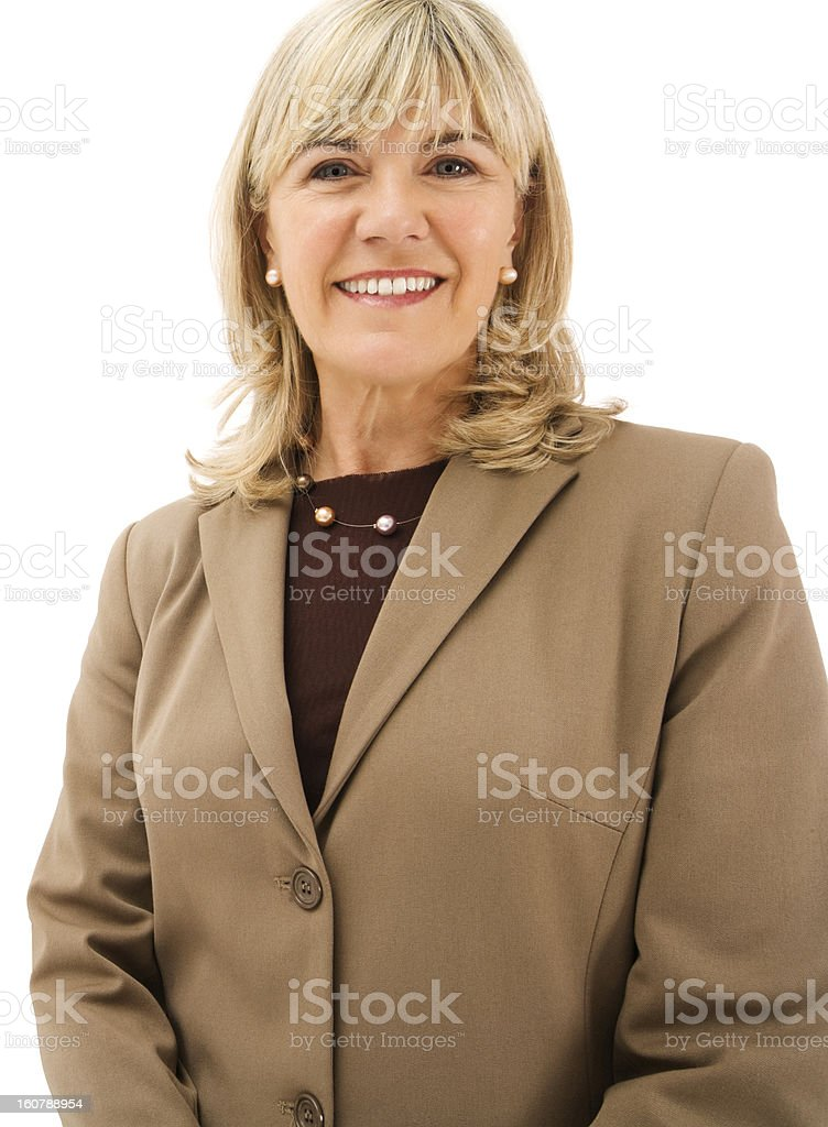 Mature Business woman isolated royalty-free stock photo