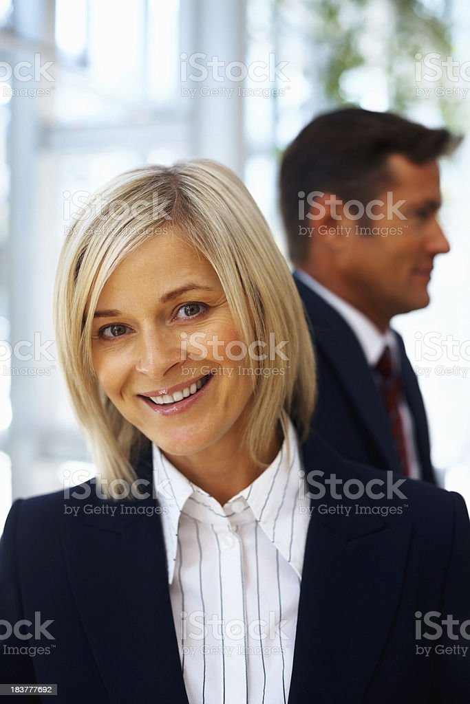 Mature business woman with a cute smile royalty-free stock photo