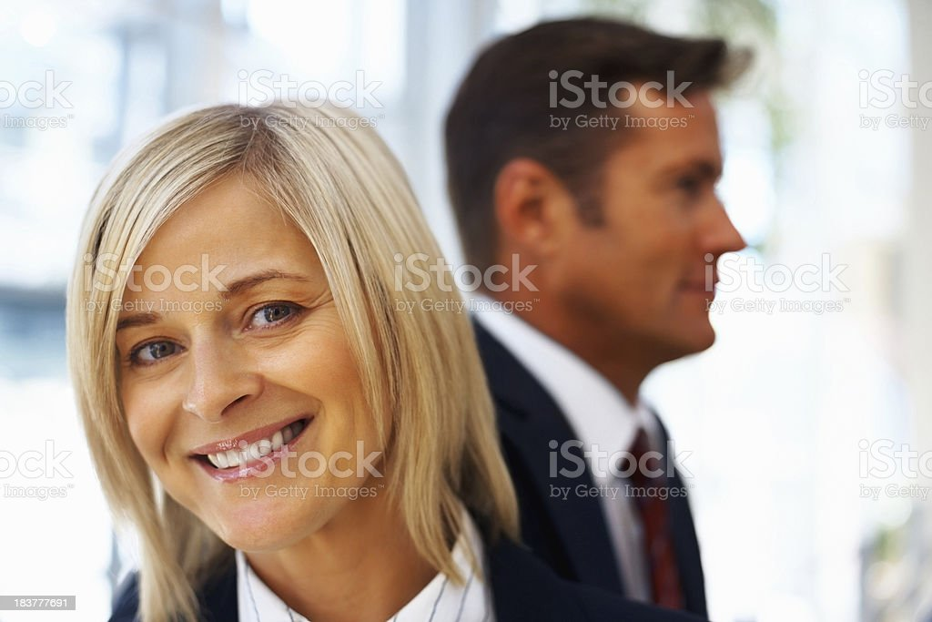 Mature business woman with an attractive smile royalty-free stock photo