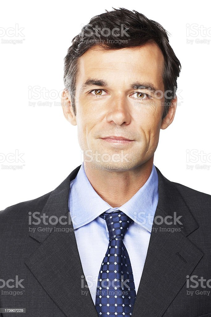 Mature businessman isolated over white royalty-free stock photo