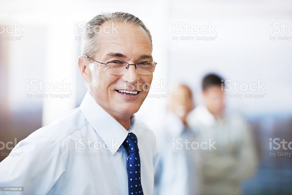Mature businessman looking at camera. royalty-free stock photo