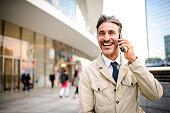 istock Mature businessman on the phone. 1064370592