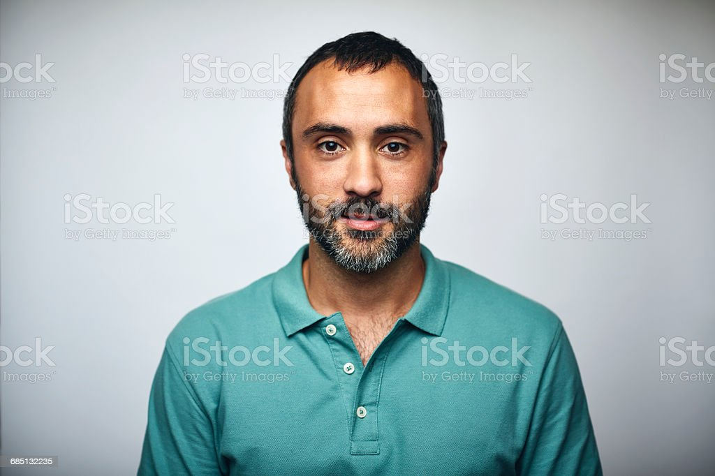 Mature businessman over white background stock photo
