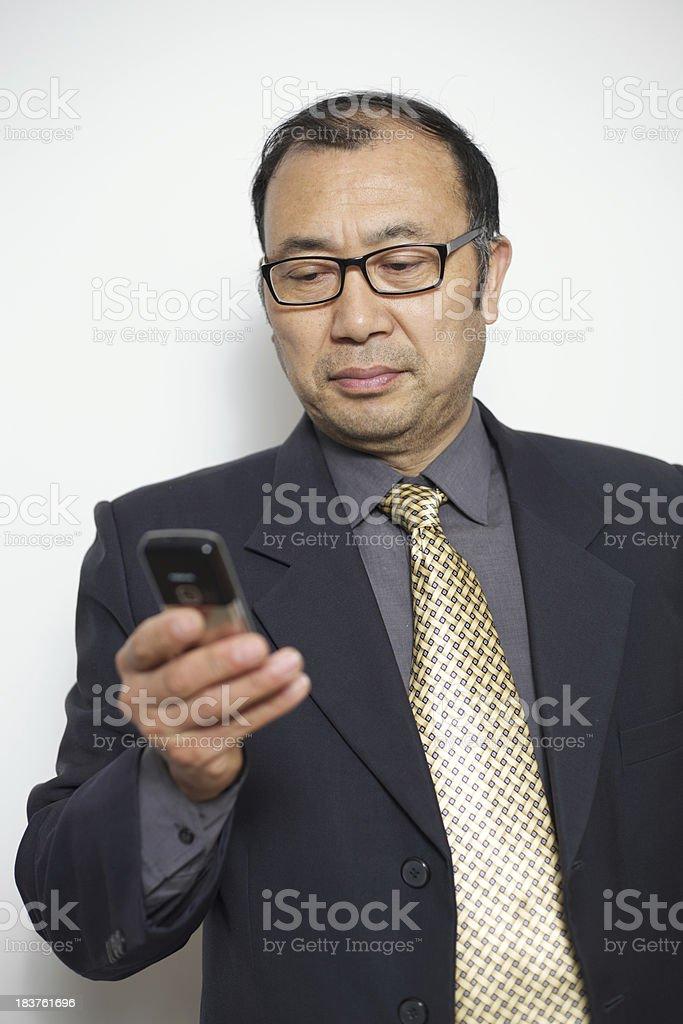Mature businessman royalty-free stock photo