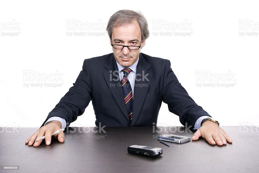Mature businessman posing royalty-free stock photo