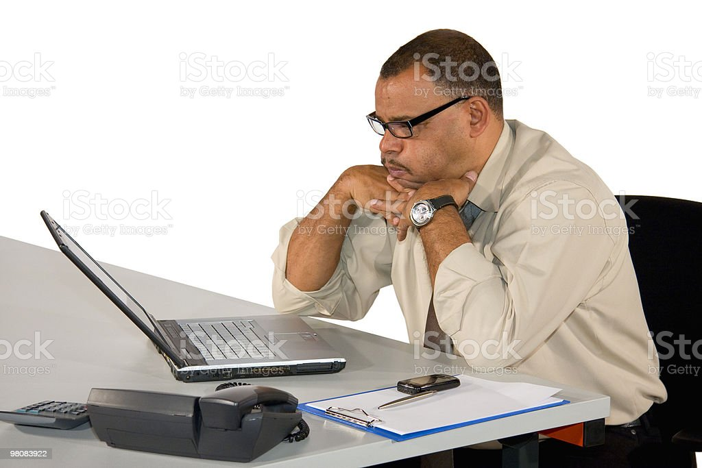 mature businessman receiving bad news royalty-free stock photo