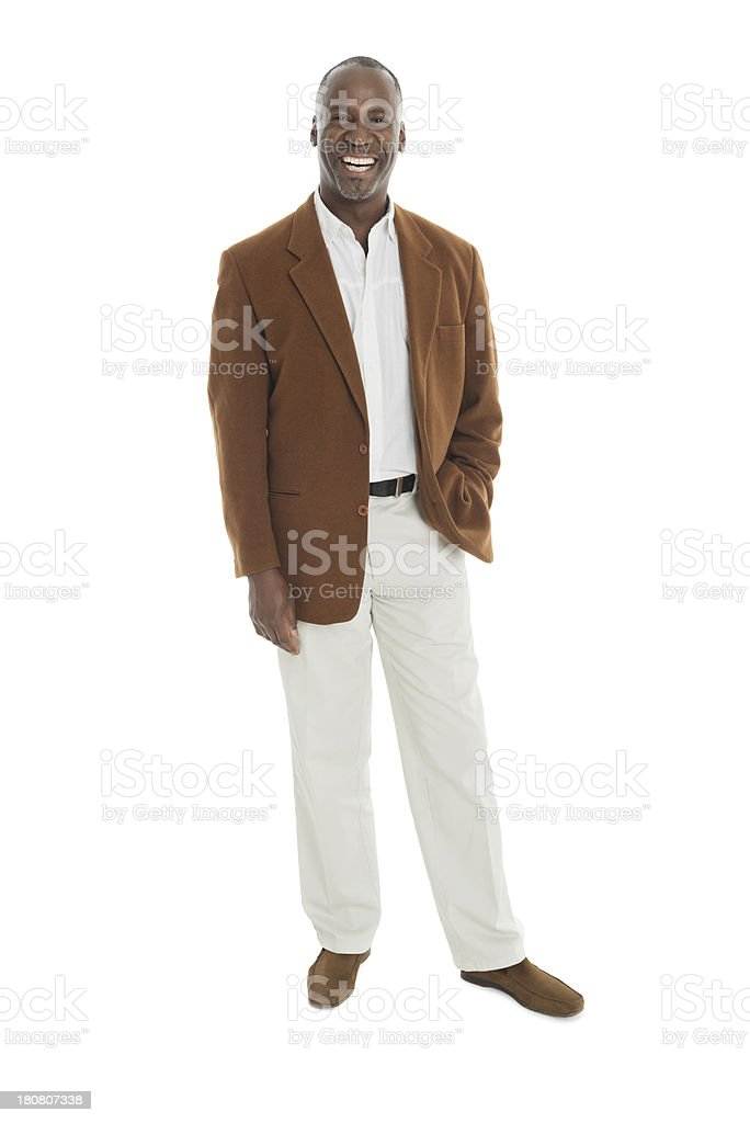 Mature Businessman Standing With Hand In Pocket royalty-free stock photo