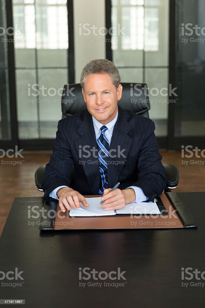 Mature Businessman Working In Office royalty-free stock photo