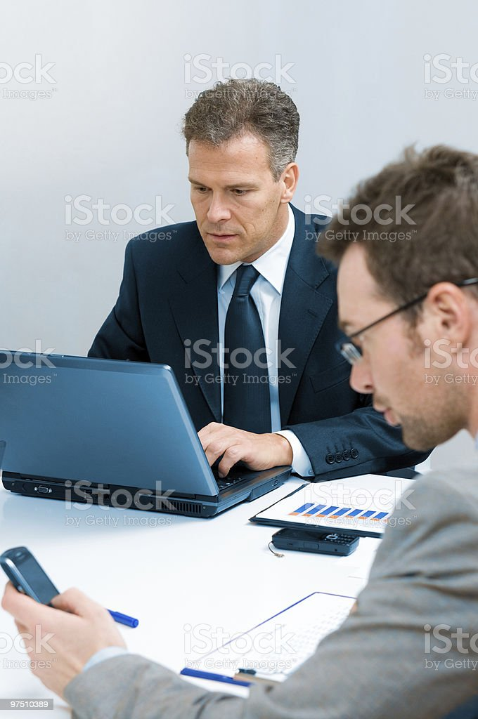 Mature businessman working royalty-free stock photo
