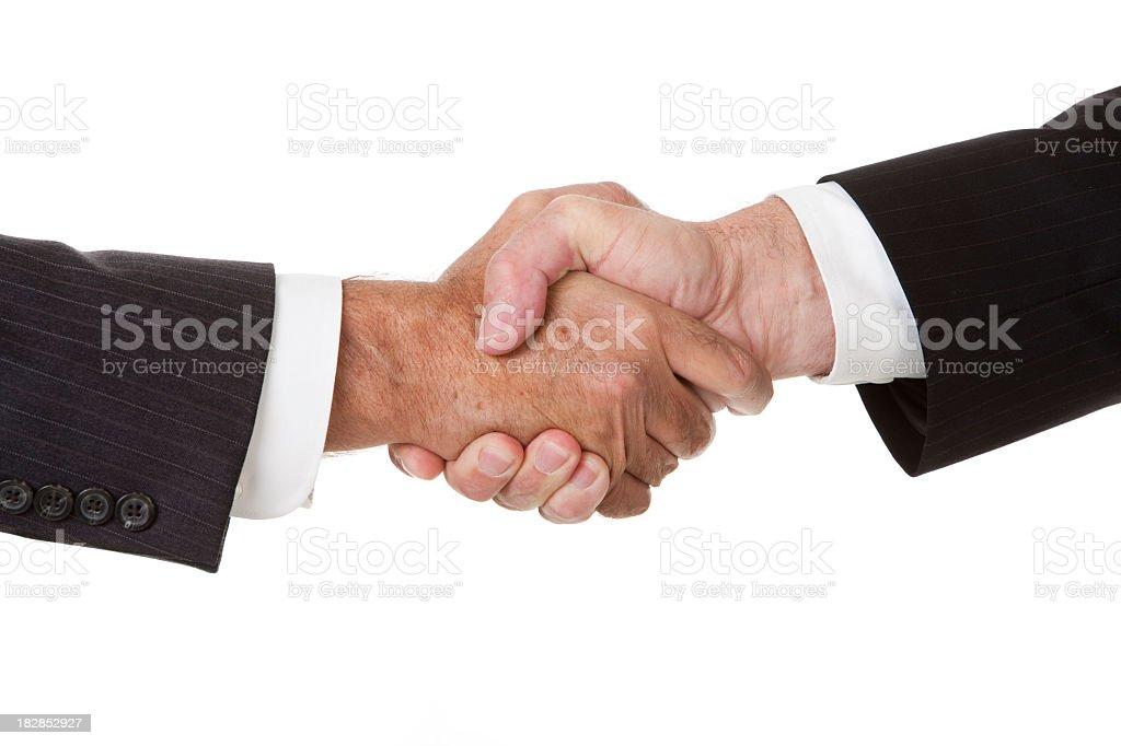 Mature Businessmen Handshake royalty-free stock photo