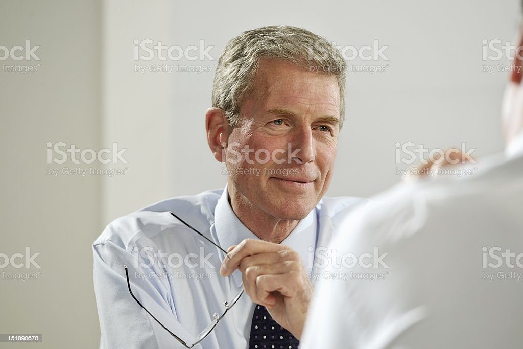 mature businessmen royalty-free stock photo