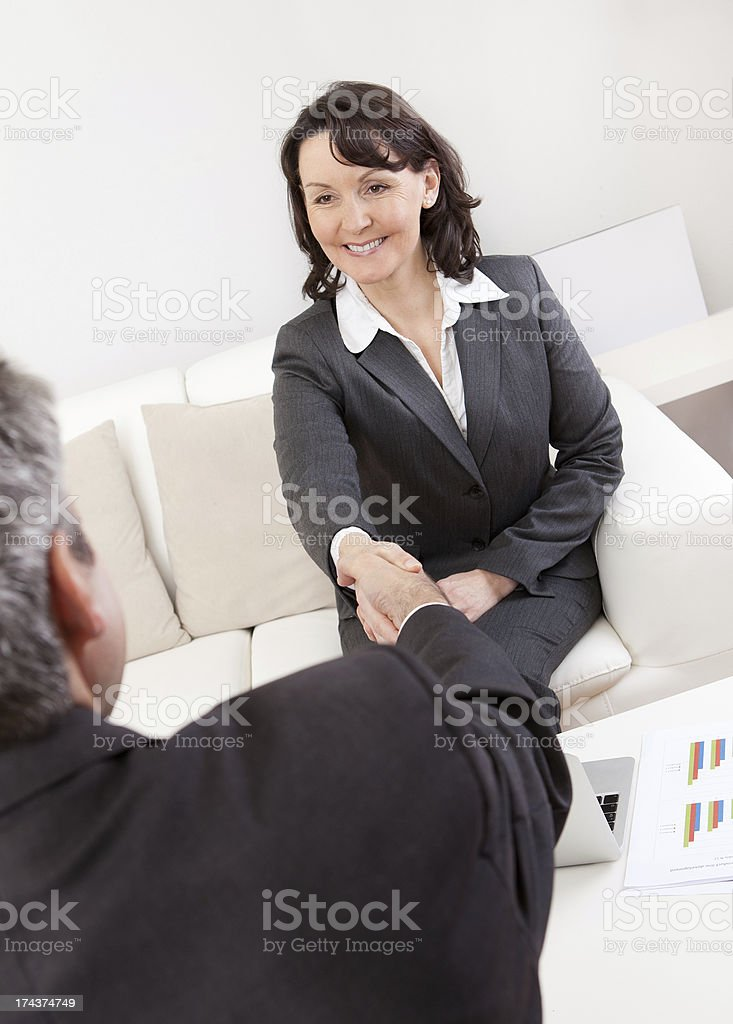 Mature businesswoman at the interview royalty-free stock photo