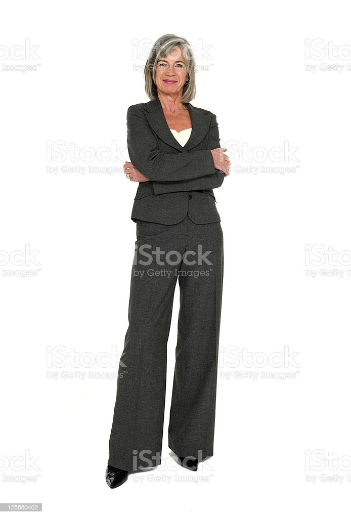 Mature Businesswoman Full Length royalty-free stock photo