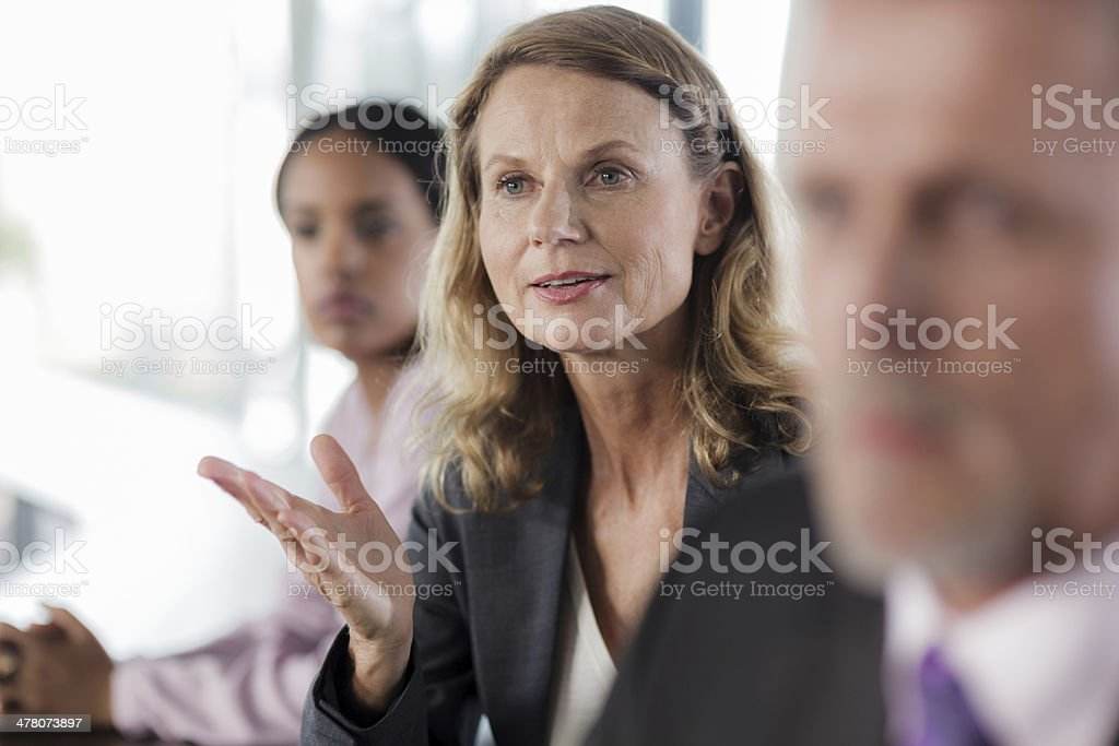 Mature Businesswoman in Business meeting royalty-free stock photo