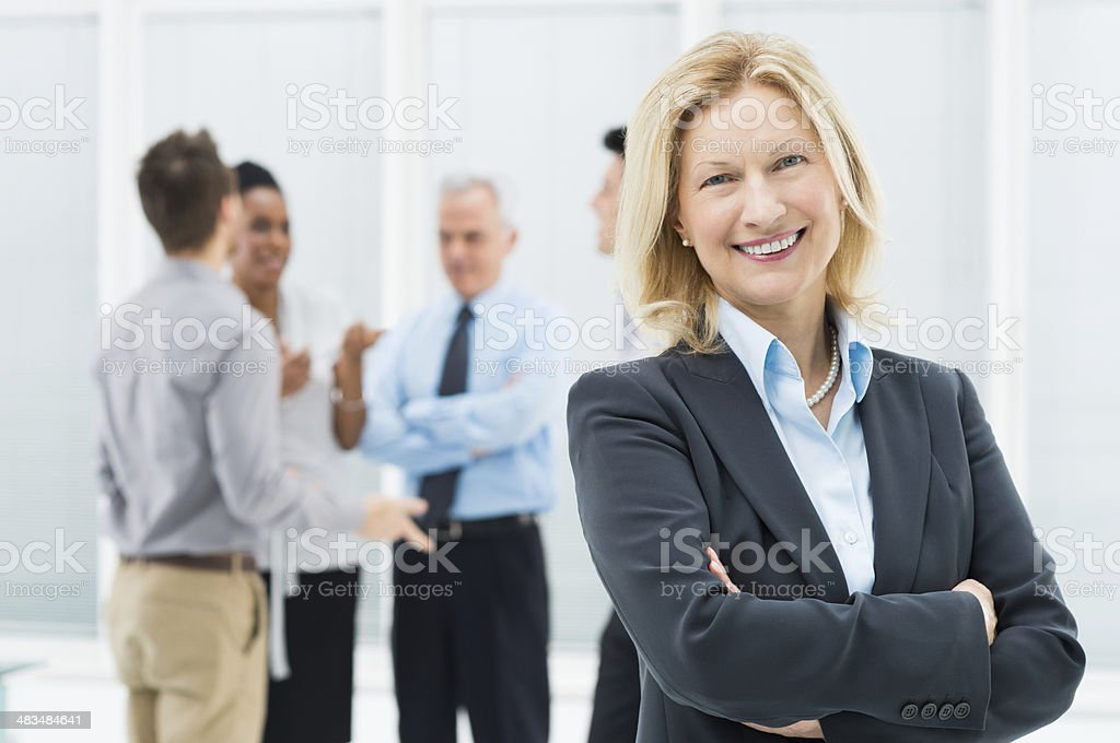 Mature Businesswoman stock photo