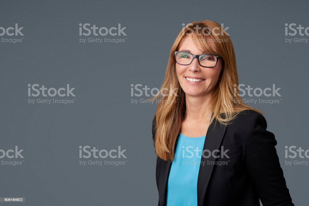 Mature businesswoman portrait stock photo