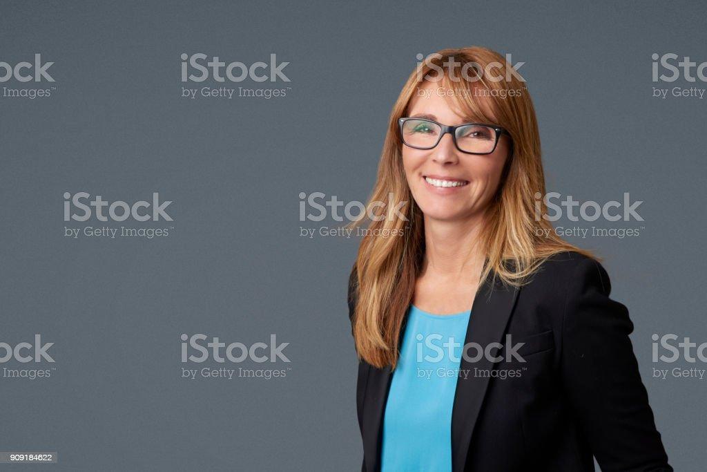 Mature businesswoman portrait стоковое фото