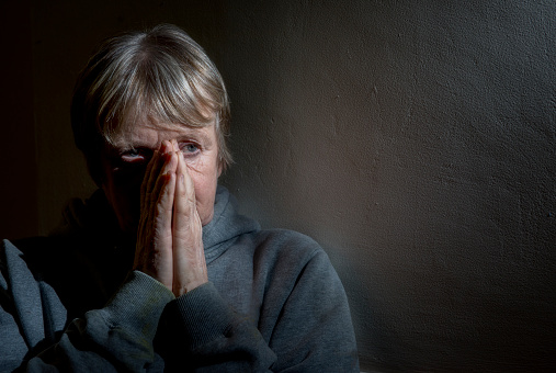 istock Mature Caucasian woman looking worried and upset 952191034