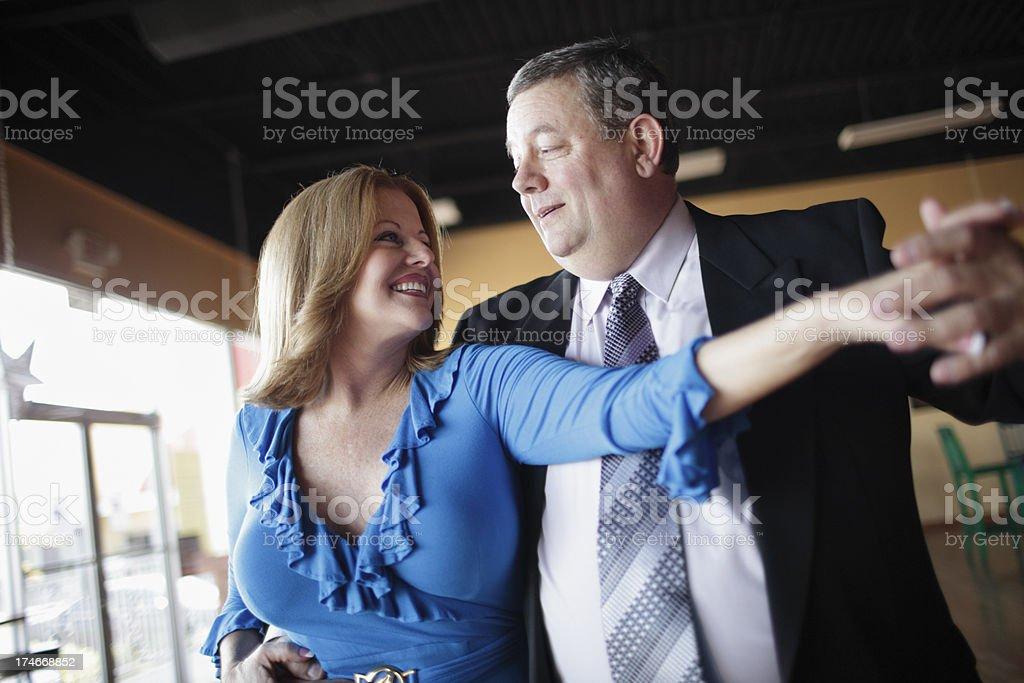 Mature Couple Ballroom Dancing stock photo