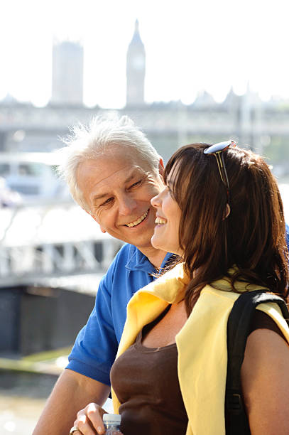 Mature Couple Enjoying a London City Break stock photo