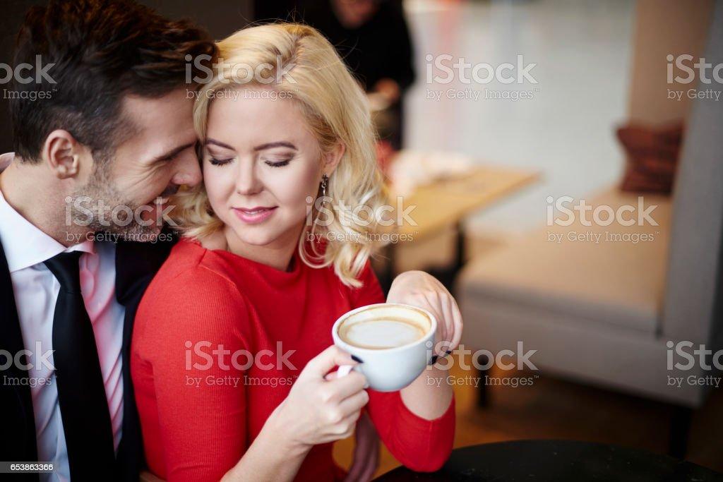 Mature couple enjoying time together stock photo