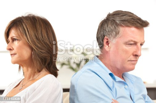 istock Mature couple fighting 171110308
