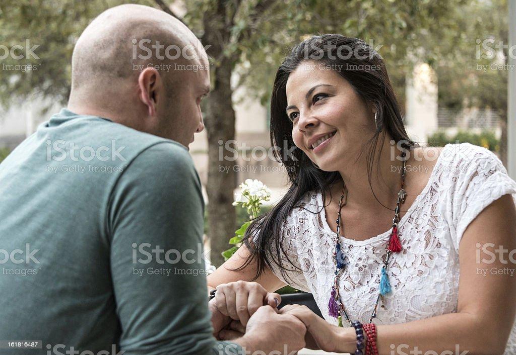 Mature couple flirting royalty-free stock photo