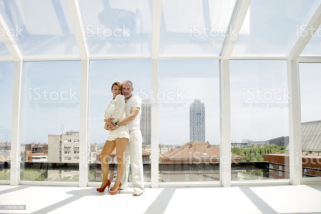 Mature couple in modern setting royalty-free stock photo