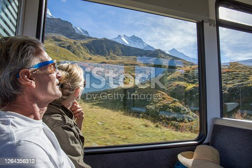 Sunny Swiss alps and alpine area outside